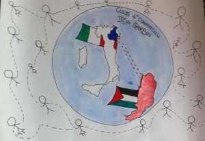 Dall'Italia con affetto. Disegno di Benedetta Nasisi.
