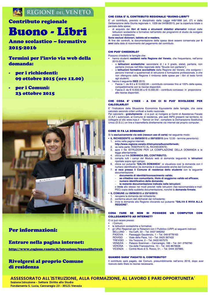 Buoni libro anno scolastico 2015-16 - Regione Veneto