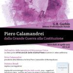 Piero Calamandrei - dalla grande guerra alla Costituzione